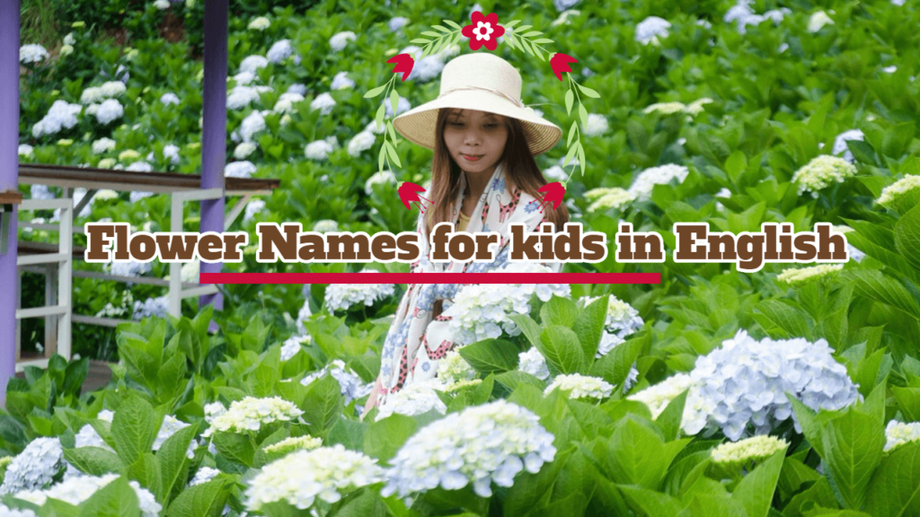 flower names for kids in english